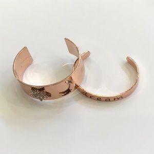 Rose gold 'Dream' bangles.